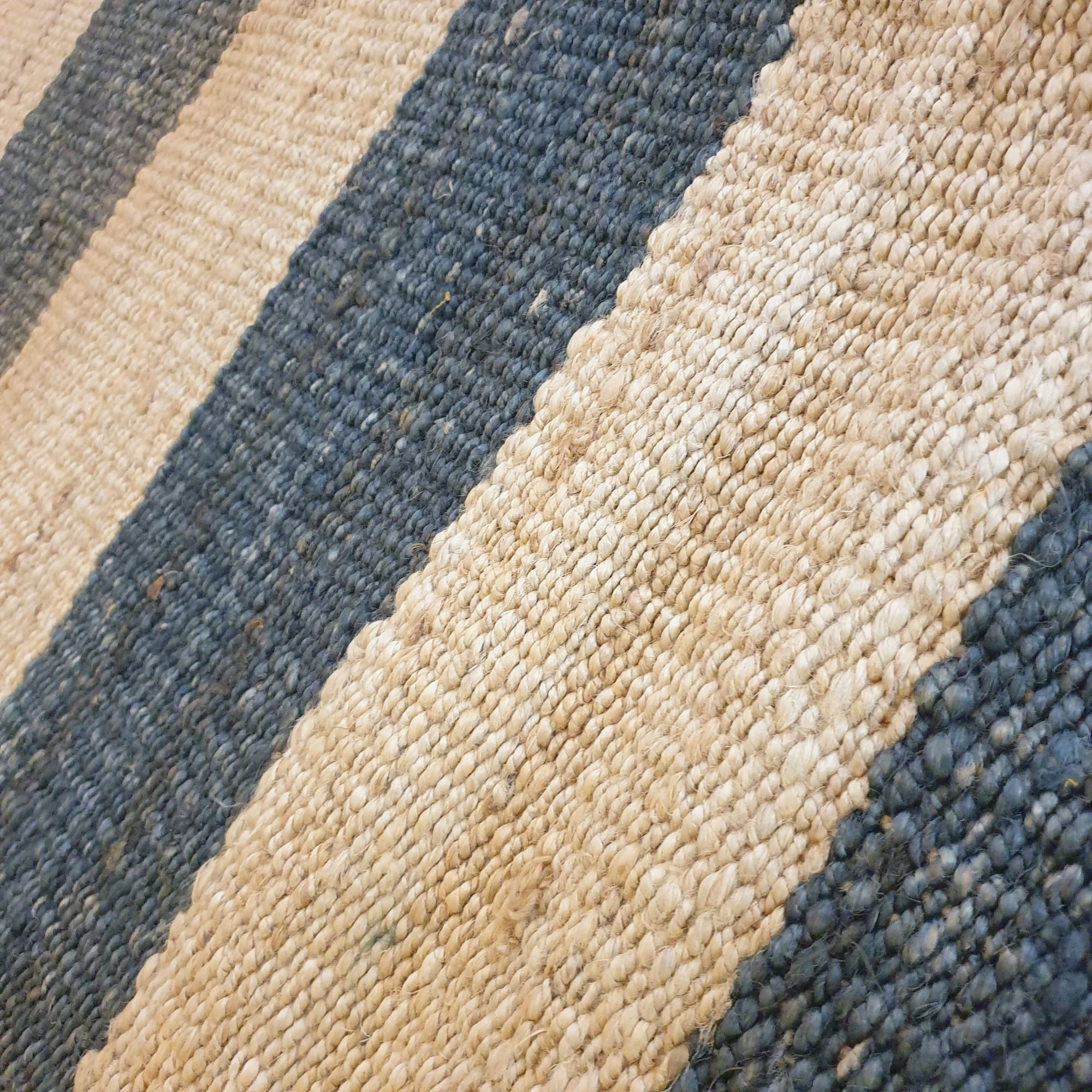 Striped Jute Rug - Natural and Black - Stunning Rugs at ...